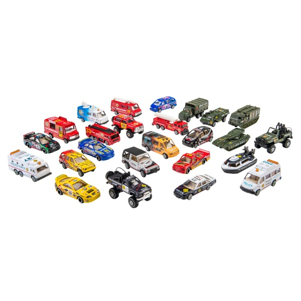 RevZ 25 Pack Diecast Vehicle Playset