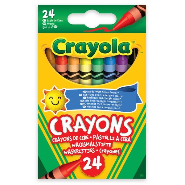 Crayola 24 Wax Crayons Asst