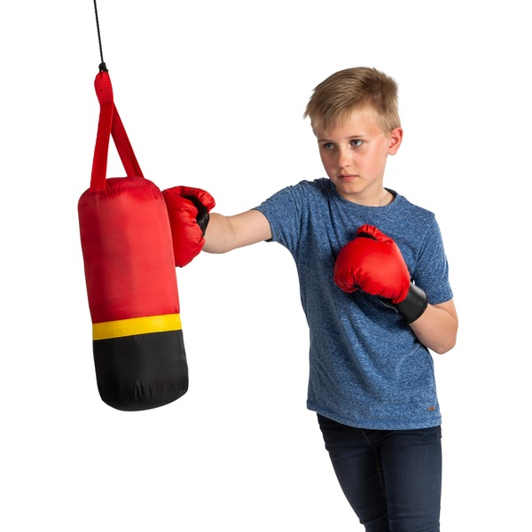 Hanging Punching Bag with Boxing Gloves Smyths Toys UK