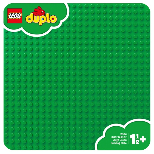 LEGO 2304 DUPLO Classic Large Green Baseplate 38L x 38Wcm Board