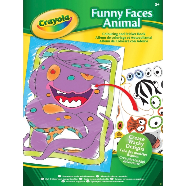 Crayola Funny Faces Sticker Book - Assortment