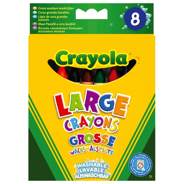 Crayola 8 Big Washable Crayons