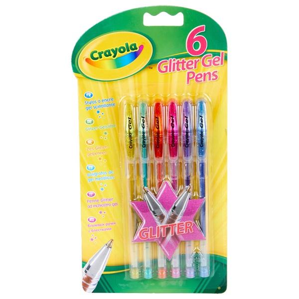Crayola 6 Glitter Gel Pens