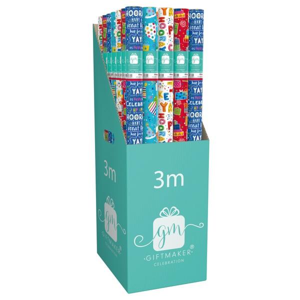 Happy Birthday 3M Giftwrap