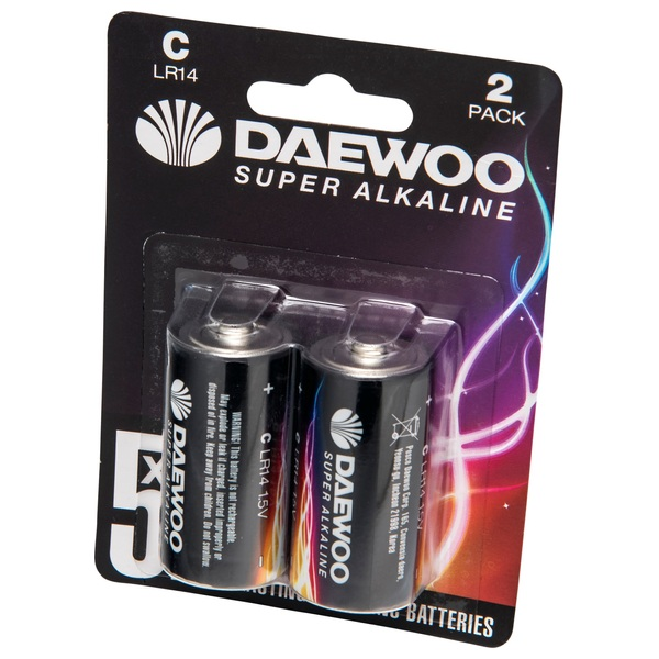 Daewoo C Size 2 Pack Batteries