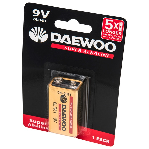 Daewoo 9 Volt Size Battery
