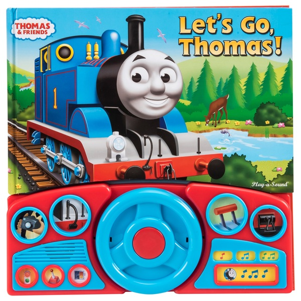 Thomas Steering Wheel Lets Go Play-A-Sound Boardback Book