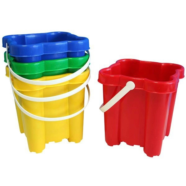 19cm Sand Castle Bucket Assortment Buckets And Spades