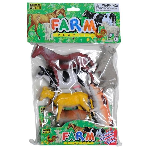 Farm Animals 6 Piece Playset
