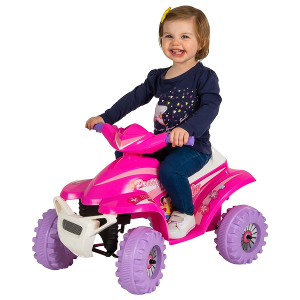 Pink Racing Quad 6V Ride On
