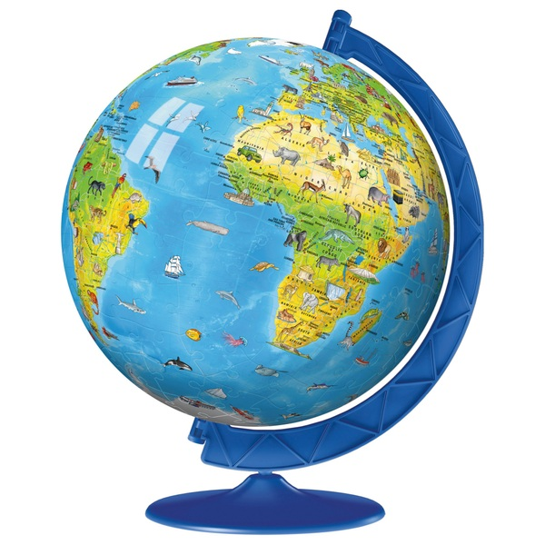 Globe Map Pictures.Ravensburger Children S World Map 3d Puzzle 180pc Jigsaws