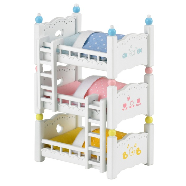 sylvanian families triple bunk bed set sylvanian families uk. Black Bedroom Furniture Sets. Home Design Ideas