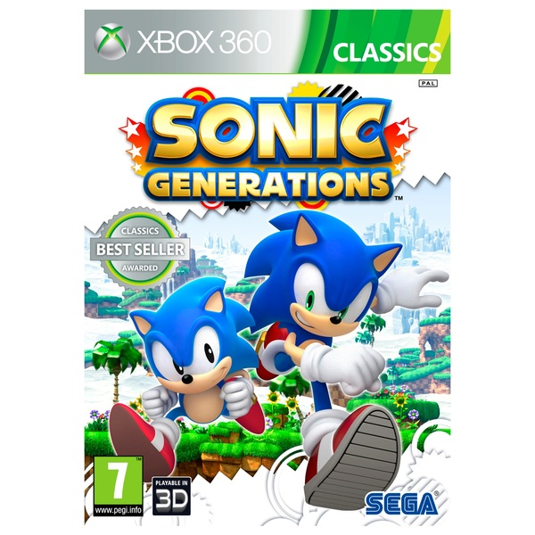 Old Xbox 360 Games : Sonic generations xbox games uk