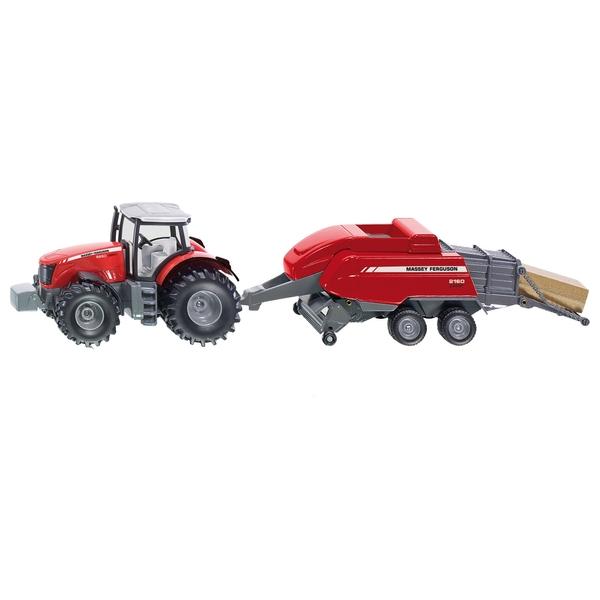 Siku 1:50 Masey Ferguson Tractor & Baler