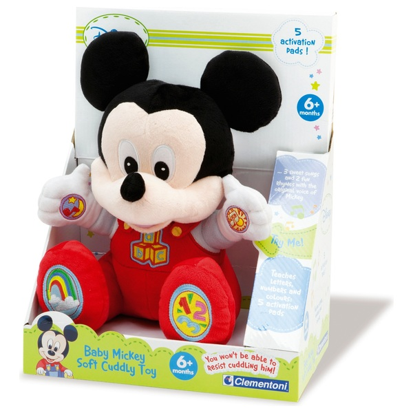 Disney Clementoni Mickey Mouse Talking Plush - Mickey Mouse Club ...