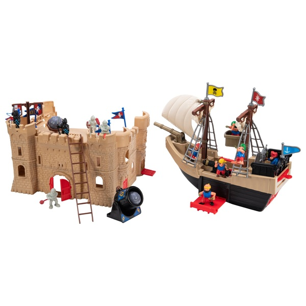 Pirate Ship & Castle Playset