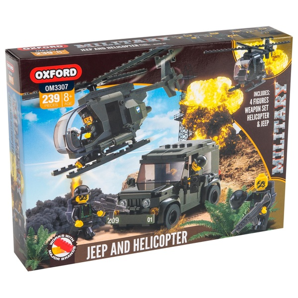 Oxford Military Jeep and Helicopter Set