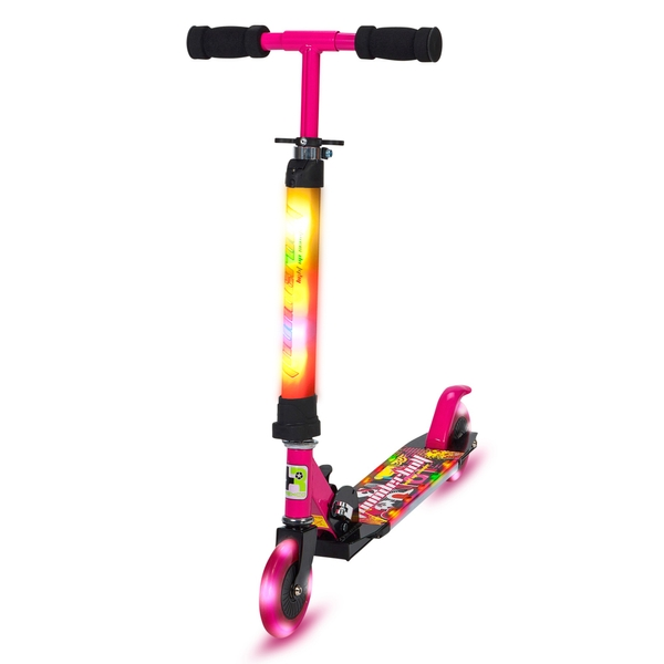 Full Light Up Pink Scooter