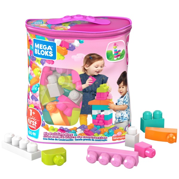 Mega Bloks First Builders Big Building Bag Pink Playset