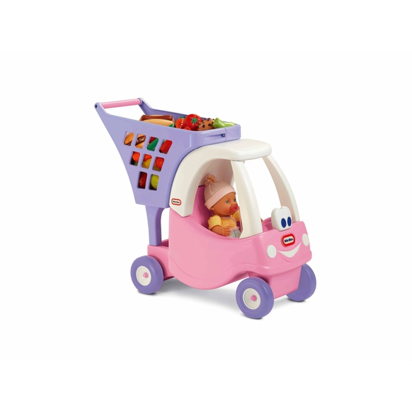 Little tikes cozy coupe shopping cart pink kitchens household uk - Little tikes cozy coupe pink ...