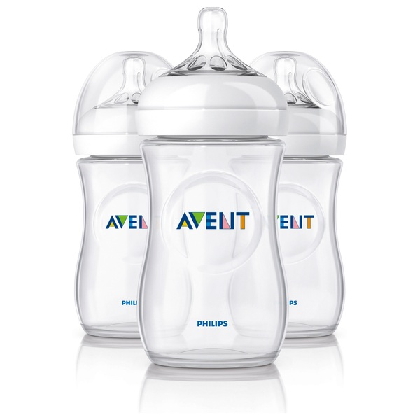 Avent Natural 3 pack 260ml Bottles NR
