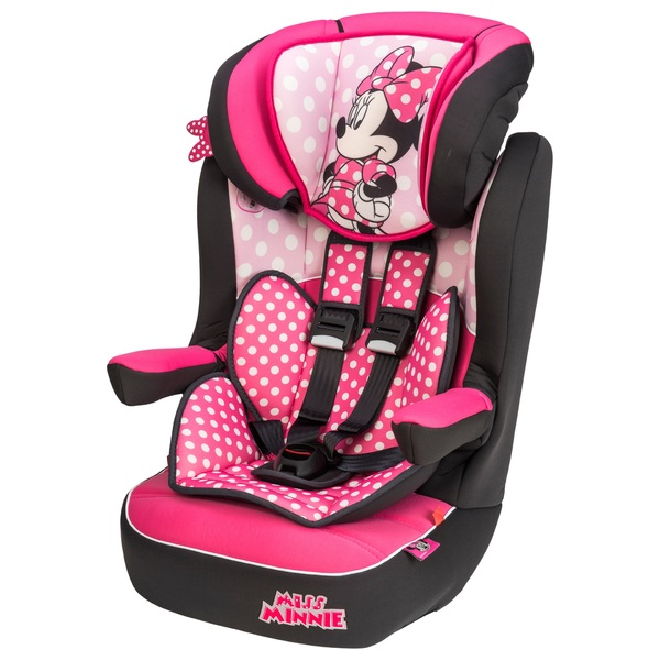 Imax Deluxe Disney Minnie Mouse Group 1-2-3 Car Seat Pink ...