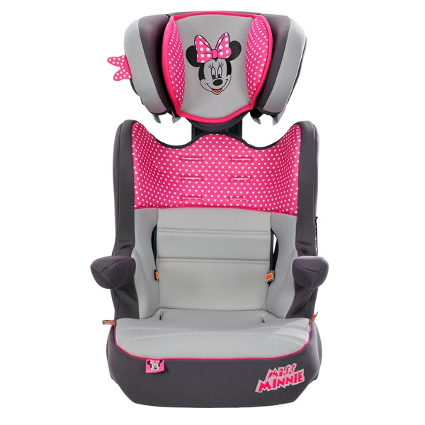 Imax Deluxe Disney Minnie Mouse Group 1-2-3 Car Seat Pink - Group 1-2-3 |9  Months - 11 Years approx  UK
