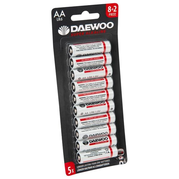 Daewoo AA Alkaline 10 Pack Batteries - Batteries UK