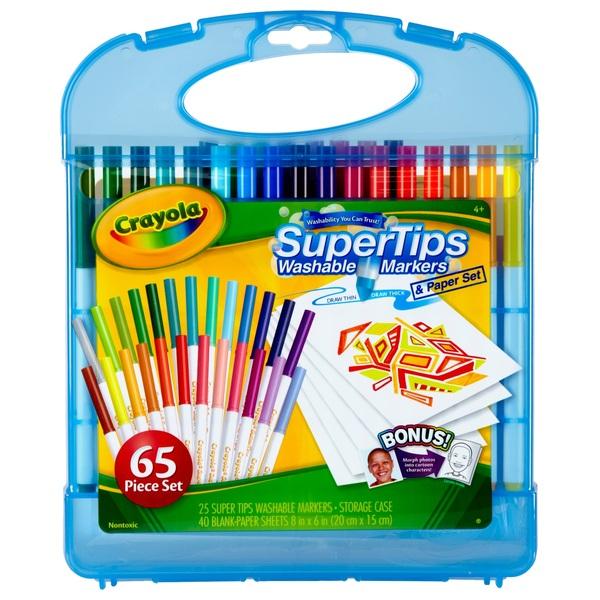 Crayola Supertips Marker & Paper Set
