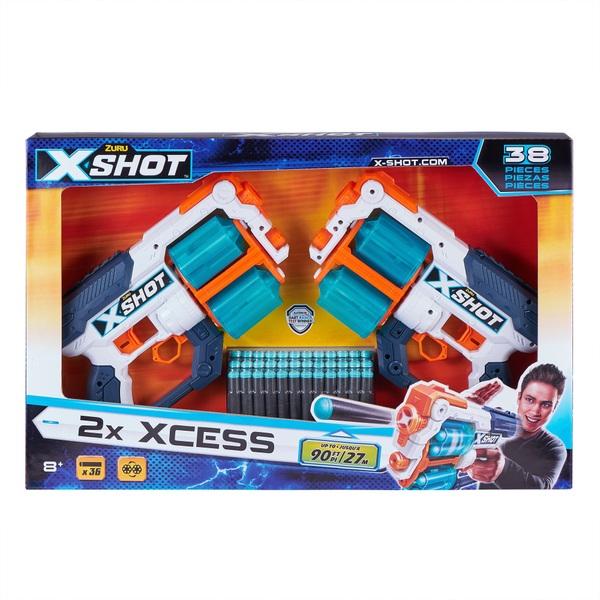 X-Shot Excel Double Xcess Foam Dart Blaster (36 Darts )