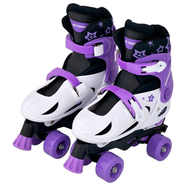 Adjustable Quad Skate 1-3 (UK) Purple/White