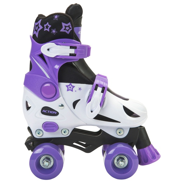 Adjustable Quad Skate 11J-13J (UK) Purple/White