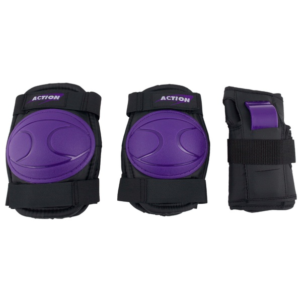Skate Knee, Elbow and Wrist Pads Purple Medium