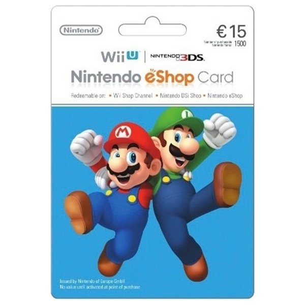 €15 Nintendo eShop Card - Gaming Gift Cards Ireland
