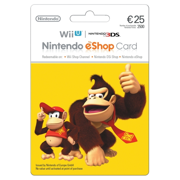 €25 Nintendo eShop Card - Gaming Gift Cards Ireland