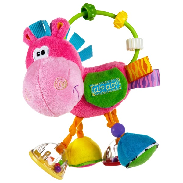 Playgro Clip Clop Activity Rattle Pink