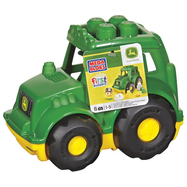 Mega Bloks First Builders Lil Vehicles John Deere Tractor Blocks for Toddlers