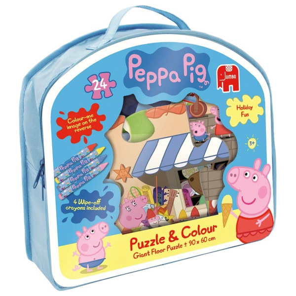 Peppa Pig 24 Piece Giant Puzzle & Colour Jigsaw