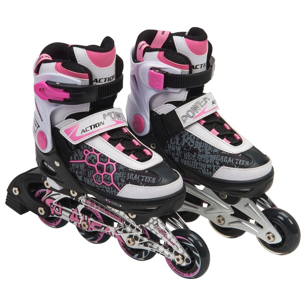 Blindside Inline Skate 4-7 (UK) Pink/White