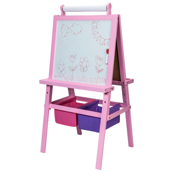 pink wooden easel desk easels storage uk