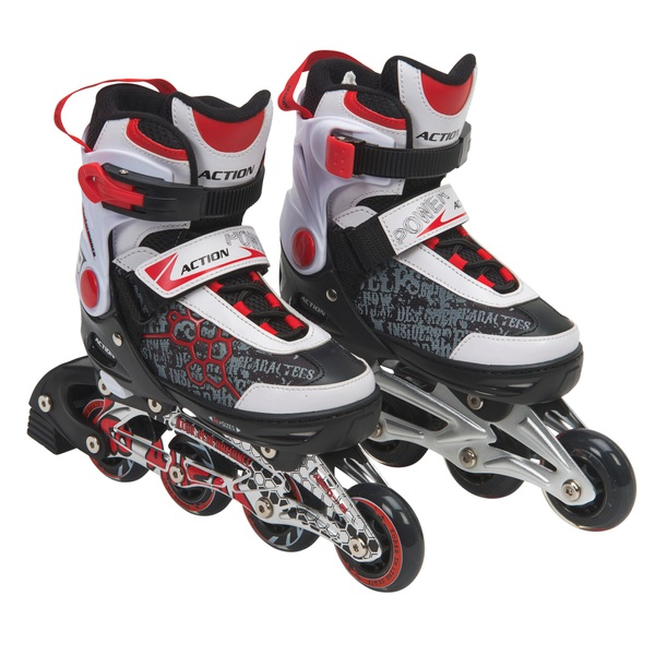 Blindside Inline Skate 4-7 (UK) Red/White