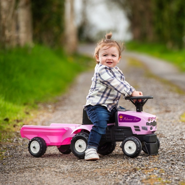 Princess Baby Sit 'n' Ride Tractor and Trailer