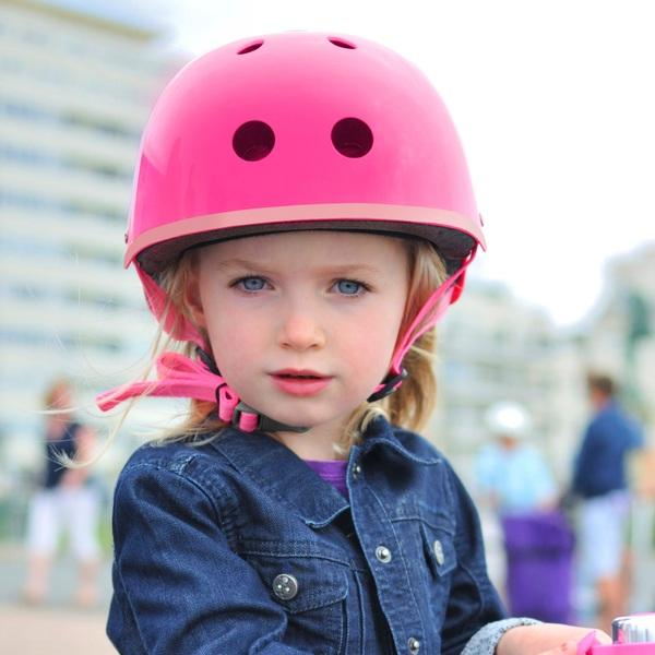 Micro Helmet Metallic Neon Pink