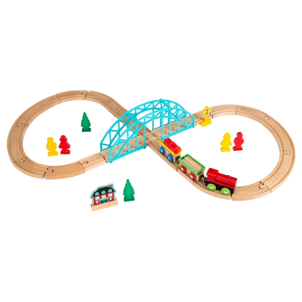 Squirrel Play 35-Piece Wooden Train Set