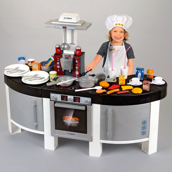 Kids play kitchens this large two sided play kitchen from Realistic play kitchen
