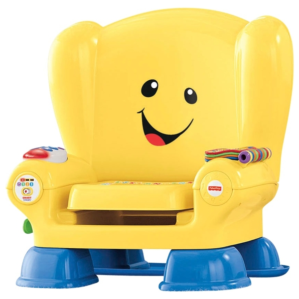Fisher Price Yellow Baby Toy Smart Stages Chair Laugh And