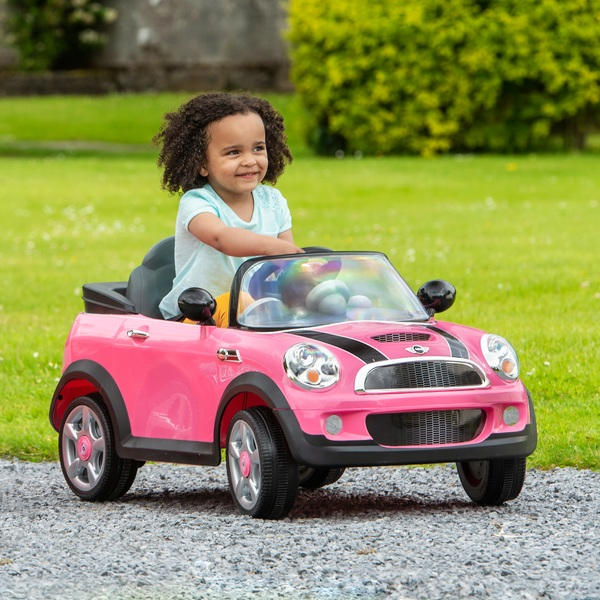 PINK Mini Cooper RIDE-ON Remote Control Children Outdoor