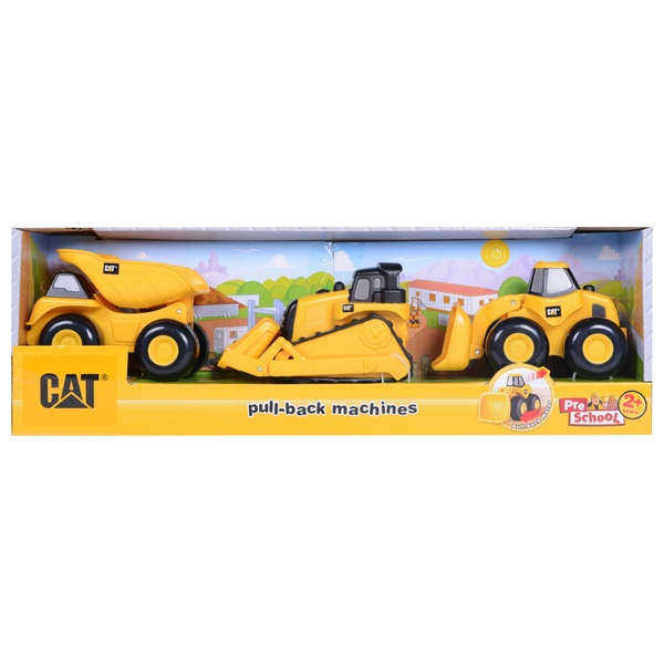 CAT Pull-Back Machines - 3 Pack