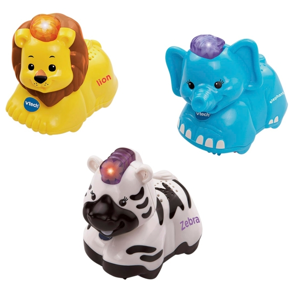 VTech Toot-Toot Animals Elephant, Zebra,Lion
