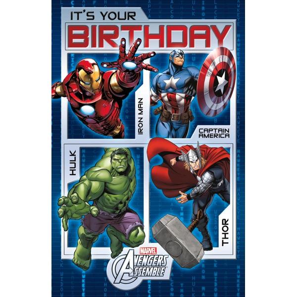 Avengers Birthday Card No Age